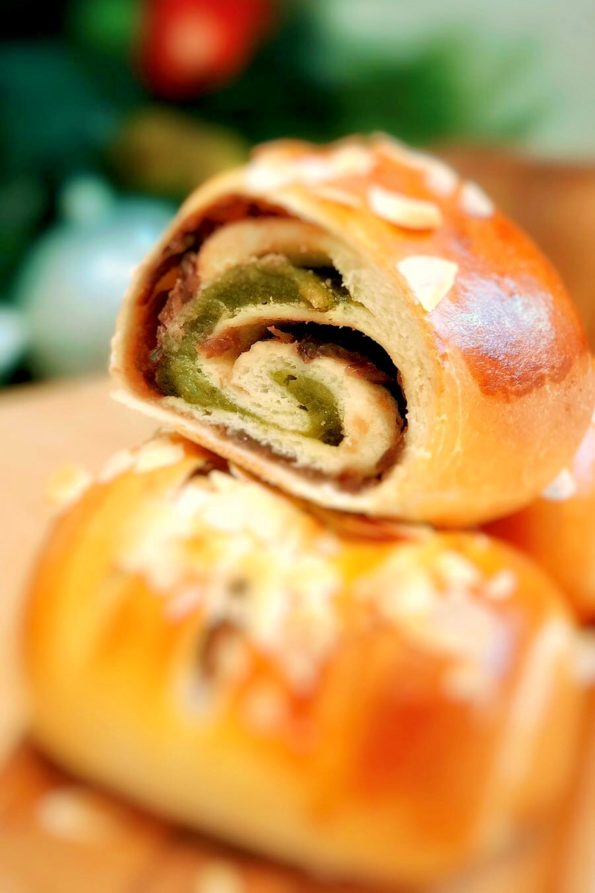 Bread-Cloud-Studio-Sarah-yam-Red Bean Matcha Mochi Roll-2019-2